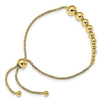 925 Sterling Argent Poli 14k Or Plaqué Adj Bracelet Bijoux Cadeaux pour les femmes - 6,4 Grammes