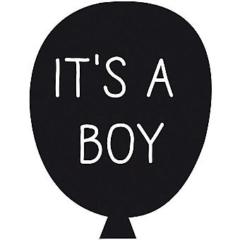 IT'S A BOY Rubber Stamp in Balloon Craft Scrapbook DIY Gift Tag Cards