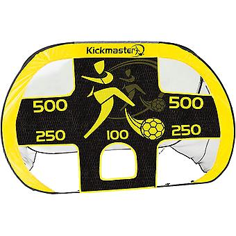 MV Sports Kickmaster Large Quick Up Goal & Target Shot Yellow 2 in 1 Goal