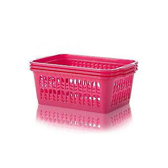 Wham Storage Pack de 3 - Media Plastic Handy Tidy Storage Basket
