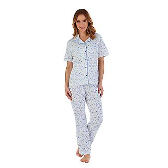 Slenderella PJ55108 Women's Floral Cotton Pyjama Set