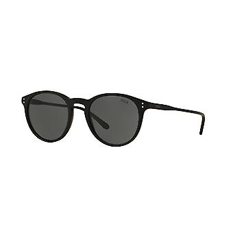 Polo Ralph Lauren PH4110 5284/87 Matte Black/Grey Sunglasses