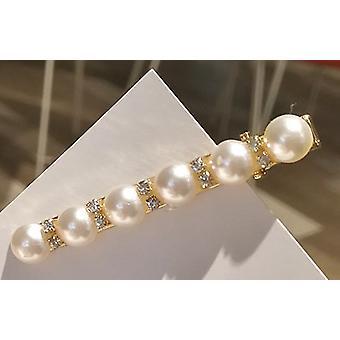 Hårnål med store perler og rhinestones
