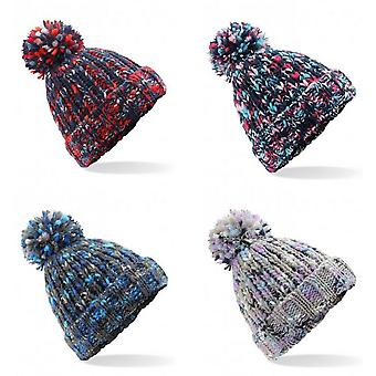 Beechfield Adults Twister Pom Pom Beanie