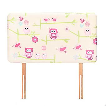 Ready Steady Bed Owls Design Children's Single Headboard 3ft Bed Size Foam Upholstered