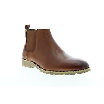 Zanzara Woody  Mens Brown Leather Slip On Chelsea Boots Shoes