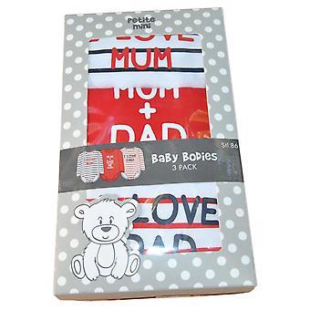 3-Pack Körper Mum+dad, stl. 86 cl