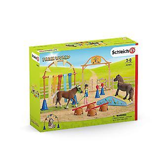 Schleich 42481 Farm World Pony Agility koulutus