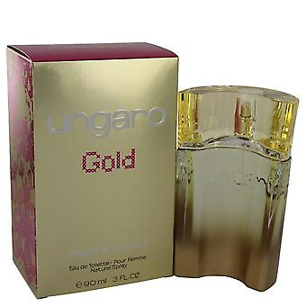 Ungaro gold eau de toilette spray by ungaro 541038 90 ml