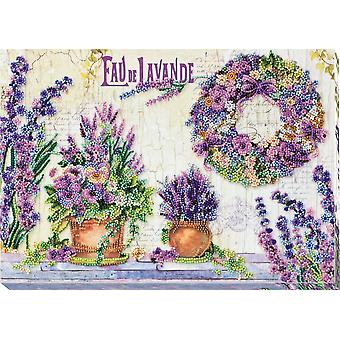Kit de bordado de cuentas de arte Abris con hilo - Chantilly de lavanda