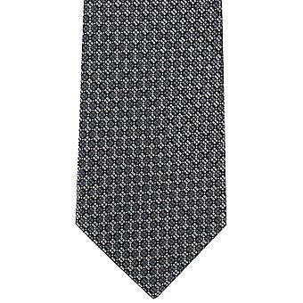 Michelsons av London schackrutiga Grid Polyester slips - grå