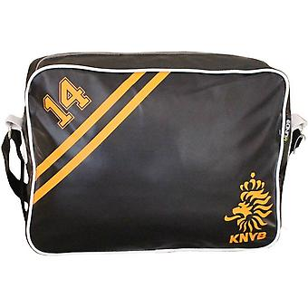 Rallegra Retro Style Sports Bag - Black/Yellow
