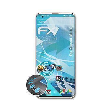 atFoliX 3x Écran protecteur compatible avec Xiaomi Mi 10 Protecteur d'écran clair&flexible