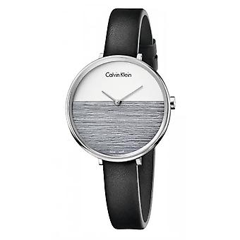 Calvin Klein K7A231C3 Rise Quartz White and Black Dial Ladies Watch