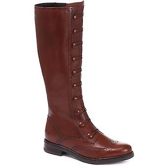Jones Bootmaker Naisten Louise Nahka Polvi High Boot