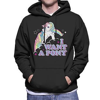 My Little Pony I Want A Pony Men's Hooded Sweatshirt