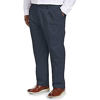 Essentials Uomini's Big & Tall Loose-fit Rughe-resistant Pleated Chino ...