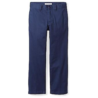 Essentials Big Boys' Straight Leg Flat Front Uniform Chino Pant, Washe...