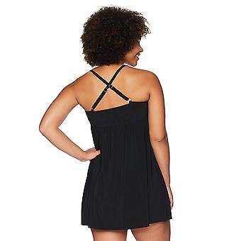Coastal Blue Kvinnor & apos, plus storlek kontroll badkläder enda rem Longline Tankini ...