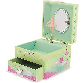 Ulysse Square Butterfly Musical Box