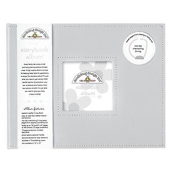 Doodlebug Diseño Gris 8x8 pulgadas Storybook Album