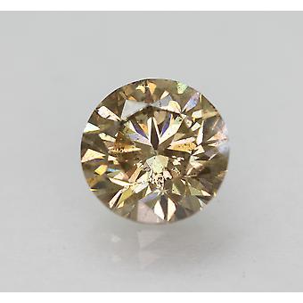 Cert 1.68 カラット・イント・ブラウン VS2 ラウンド ブリリアント・ナチュラル・ルーズ・ダイヤモンド 7.48mm