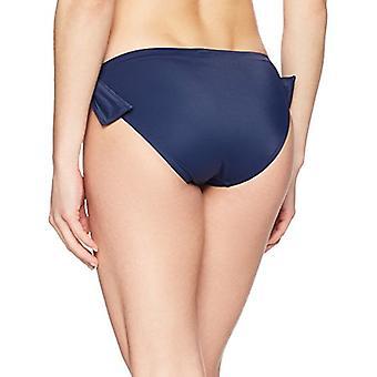 Marque - Coastal Blue Women's Swimwear Side Tie Hipster Bikini Bottom, ...