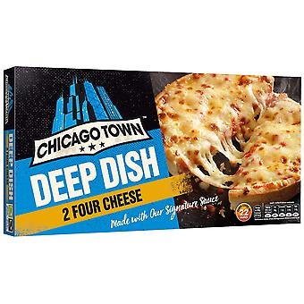 Chicago Town Frozen Deep Dish Four Cheese Pizzas