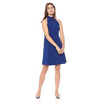 Lark & Ro Frauen's ärmellose Passform und Flare Trichter Kleid, Kobalt, 14