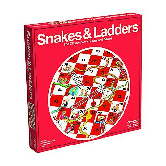 Games - Pressman Toy - Snakes & Ladders (Red Box) New 1911-06