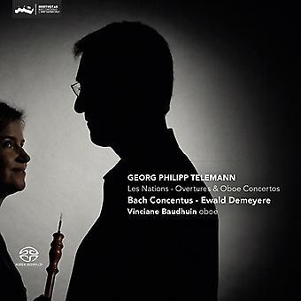 Telemann / Bach Concentus / Demeyere - Les Nations: Overtures & Oboe Concertos [CD] USA import