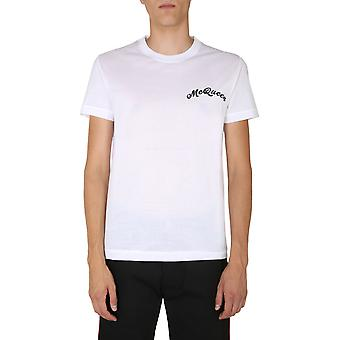 Alexander Mcqueen 624180qpx019000 Män's Vit Bomull T-shirt