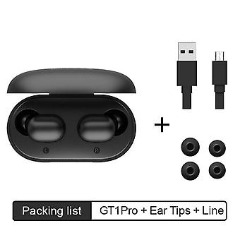 Gt1 Pro -long Battery Hd Stereo Tws Bluetooth Earphones Touch Control Wireless Headphones With Dual Mic Noise Isolation (black)