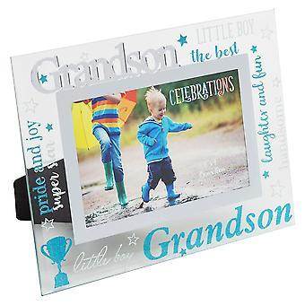 Widdop & Co. Grandson 3d Words 6 X 4 Glass Photo Frame