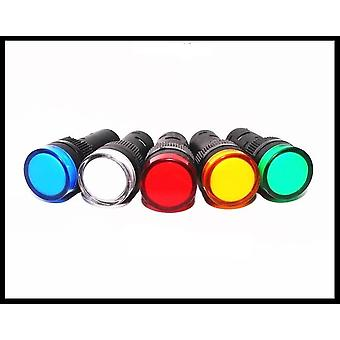 Mixed Color Ac/dc 12v24v110v Ac220v Ad16-16c 16mm Mount Size Led Power Indicator Signal Light Pilot Lamp