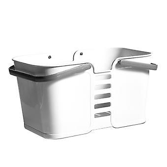 Bærbar plast badning og vask kurv hvid