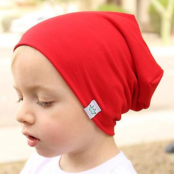 Cute Solid Knitted Cotton Hats For Newborn Baby, Autumn Winter Warm Earmuffs