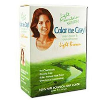 Light Mountain Color The Gray Hair Color and conditioner, Brown-Light 7 Oz
