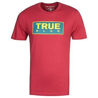 Wahre Religion Schwergewicht rot T-Shirt