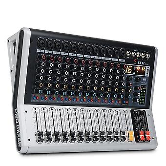Professional 12 Channel Mixing Console With Mute And Pfl Switch