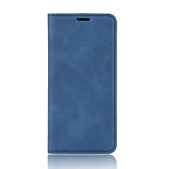 حقيبة جلدية لسامسونج غالاكسي S10 +/ S10 زائد / S10 زائد الأزرق cainiao-55