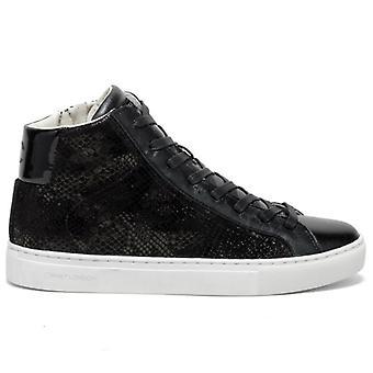 Polnische Kriminalität London Essential Black Python Sneaker