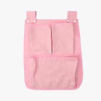 Seng hængende opbevaringspose, Baby Bomuld Crib Organizer, Ble Pocket Bag