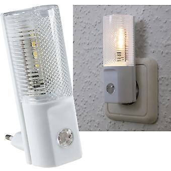 LED night light with day/night sensor 230V, warm white LEDs, only 1W
