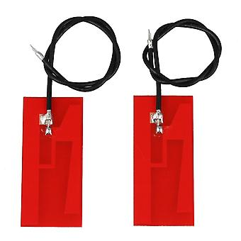 2pcs Red Internal Antenna High Gain Welded 32x14mm Wire Length 13 cm