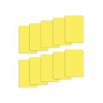 Setti 10 keltainen muovinen silta koko leikata kortit