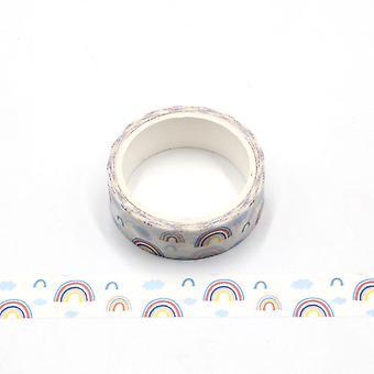 باستيل قوس قزح الألوان Washi الشريط 15mm و 5 متر