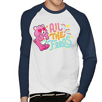 Pflege Bären entsperren die Magie alle die Gefühle Männer's Baseball langärmelige T-Shirt