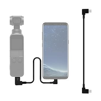 Sunnylife 30cm USB-C / Type-C to USB-C / Type-C Converting Connector Data Cable for  DJI OSMO Pocket(Black)