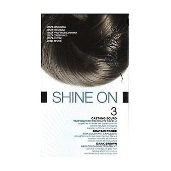 Shine On 3 Donkerbruine hair coloring treatment None